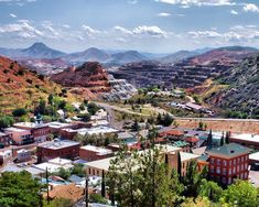 Copper Mining Town - Bisbee, Arizona; some of the most beautiful turquoise is mined here (Bisbee Blue)
