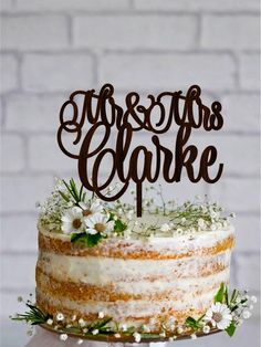Excited to share the latest addition to my #etsy shop: Last Name Wedding Cake Topper Wood Wedding Topper Personalized Rustic Cake Topper Gold cake topper Silver cake topper #weddings #decoration #silver #weddingcaketopper #woodcaketopper #woodencaketopper #personalisedtopper #mrandmrstopper #lastnametopper