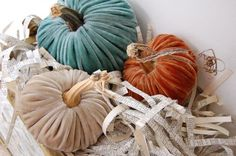 Plush pumpkins - I want!!
