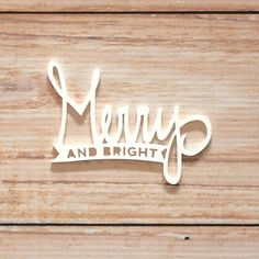 Merry and Bright Acrylic from Elle's Studio