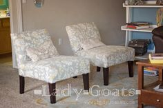 Sewing Slipcovers For Target Armless Chairs | Sew Be It! | Pinterest |  Target, Slipper Chairs And Upholstery