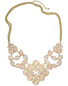 Grayce Statement Necklace in Petal
