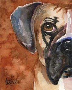 I'm not even that fond of these dogs, but I love this watercolor.