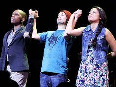 """Leslie Odom Jr., Lin Manuel Miranda and Karen Olivo in """"Tick, Tick… Boom!"""" for Encores!, 2014"""