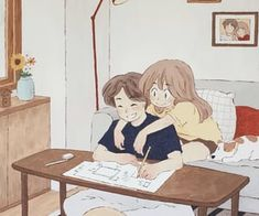 Find images and videos on We Heart It - the app to get lost in what you love. Love Cartoon Couple, Cute Couple Comics, Cute Couple Art, Anime Love Couple, Cute Couple Drawings, Anime Couples Drawings, Cute Drawings, Couple Illustration, Illustration Art