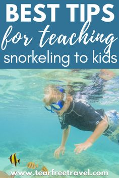 Teaching kids to snorkel is easier than you think. It's a great way for them to have fun on your family vacation, explore and appreciate nature, and learn a new life skill! Read all my best tips that we used snorkeling with our kids below! #kidsvacation #familyvacation #traveltips #beachtrip #beach #snorkelling Beach Trip, Vacation Trips, Beach Vacations, Family Vacations, Toddler Plane Travel, Travel With Kids, Travel Tours, Travel Hacks, Travel Ideas