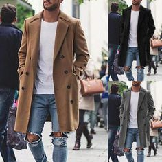 Classic Slim Fit Mens Coat outfits Preppy outfits With Boots outfits Night outfits Streetwear Rugged Style, Outfits Jeans, Casual Outfits, Casual Wear, Style Brut, Ted Baker, Herren Winter, Outfit Invierno, Winter Fashion