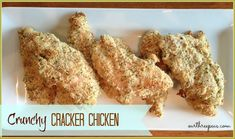 Crunchy Cracker Chicken Recipe is the perfect weeknight meal  #chickenrecipe #chicken #recipes