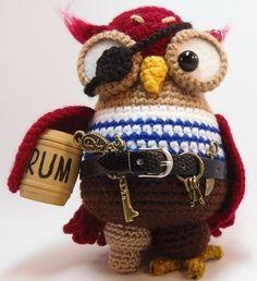 amigurumi owl pirate