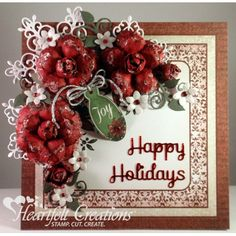 Gallery | Red Christmas Roses - Heartfelt Creations