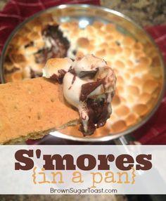 S'Mores in a Pan Dip...