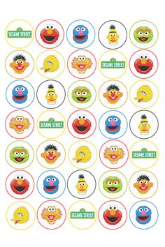 35 x Sesame Street Edible Rice/Wafer Cupcake toppers in Home & Garden, Parties, Occasions, Cake | eBay