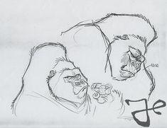 Gorilla Ink, Tarzan, Walt Disney, Cartoon, Comic, Cartoons, Comics And Cartoons