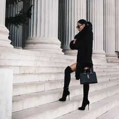 Shared by 𝓣𝓱𝓮 𝓑𝓸𝓼𝓼 𝓑𝓪𝓫𝓮 ♕. Find images and videos about girl, fashion and cute on We Heart It - the app to get lost in what you love. Thigh High Boots, High Heel Boots, Over The Knee Boots, Heeled Boots, Hot High Heels, Sexy Heels, Sandro, Boots Tumblr, Dressed To Kill