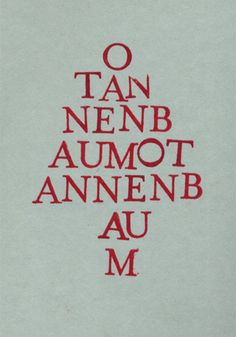Weihnachtskarten selber basteln 9: Buchstabenstempel formen den Wortsinn
