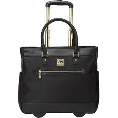Kenneth Cole Reaction Women's Runway Call Laptop Anti-Theft RFID Wheeled Business Carry-On Tote, Black - Womens Fashion Designer Purses And Handbags, Purses And Bags, Carry On Tote, Laptop Tote Bag, 17 Inch Laptop, Best Laptops, Luggage Bags, Business, Free Shipping