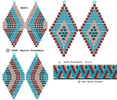 native bead patterns | Lots of free beading patterns on this site | Native American Beadwork