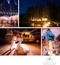 Lake Tahoe Weddings Peach Cream Wedding Tablescape Candlelight First Dance Market Lighting