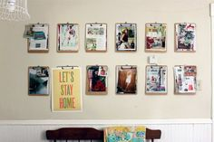 clipboards as art/inspiration board display