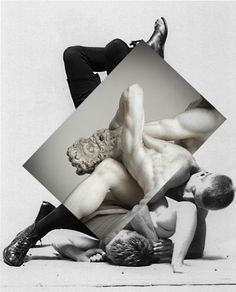 ART: Mixed Media Collages by Anya Lsk Mysterious Russian artist Anya Lsk's collages beautifully connect the nude male form along with various landscapes with similar according...