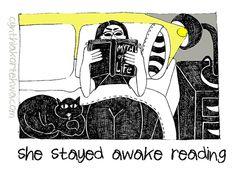 She Stayed Awake Reading