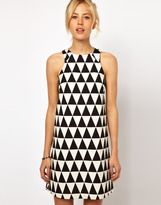 pattern for a shift dress | shift dress pattern-asos shift dress in triangle jacquard-I want to sew this.