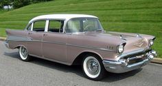 1957 Chevy Bel Air. Dusk Pearl. My nomination for most beautiful car ever made.