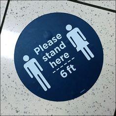 CoronaVirus Please-Stand-Here Floor Graphic