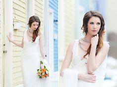 An Indie Wedding Social: Part 2 orange flowers vintage dress Live Model, Wedding Show, Indie Fashion, Orange Flowers, Vintage Flowers, Wedding Styles, Vintage Dresses, Berry, Gowns