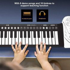 Regardless of your age or skill level, this roll-up piano makes for a great gift idea. Shop Hand roll portable piano only on Exalt club. Portable Piano, Upright Piano, Keyboard Piano, The Black Keys, Hand Roll, Piano Lessons, Fifa, Gifts For Kids, Singing