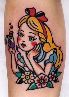 100 Alice in Wonderland Tattoos You'll Need to See - Tattoo Me Now 90s Tattoos, Lipstick Tattoos, Bunny Tattoos, Friend Tattoos, Cute Tattoos, Beautiful Tattoos, Body Art Tattoos, Small Tattoos, Disney Sleeve Tattoos