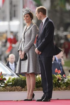 AND SHE LOOKS AMAZING, as per usual. | Duchess Of Cambridge Debuts Her New Royal Baby Bump