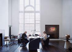 """secretempires: """" Massimo & Leila Vignelli in their design studio. """""""