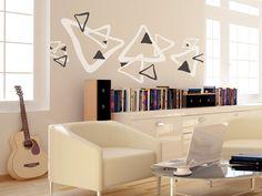 GroB Dreiecke Als Ethno Idee | Das Zweifarbige Wandtattoo Motiv Sorgt Für  Vielfalt An Den