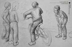 Bisiklete binen çocuk vr arkadaşları