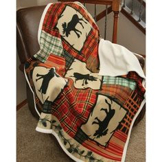 Woodland Moose Throw...great for all seasons!