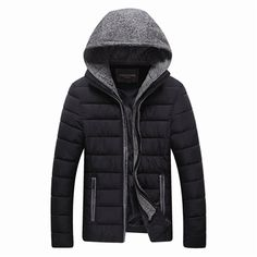 OTHER™  Men's Winter Cotton-Padded Cropped Slim Hooded Coat