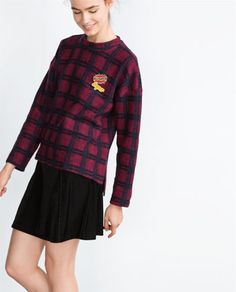 d66b3396ff5c2 Image 3 of CHECK SWEATSHIRT from Zara Cabot Circus, Zara, Long Sleeve,  Sleeves