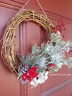 holiday wreath on fr