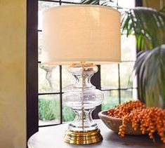 Jasmine Glass Table Lamp Base