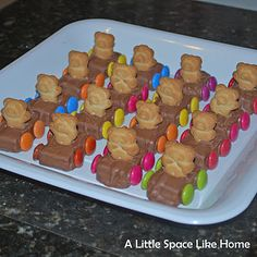 #party food, cutest little teddy bear racing cars, perfect for any #party