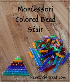 DIY Montessori Colored Bead Stair - Help Kids with Basic Math - ResearchParent.com