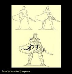 How to draw a Greek mythology hero