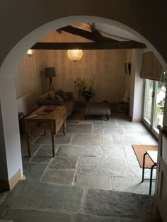 Antique reclaimed York stone flooring for interiors. Refined and smoother selection for inside use with underfloor heating. Sizes from 300 x 300mm to 700 x 1300 x 30 mm thickness. http://www.naturalstoneconsulting.co.uk/yorksets-reclaimed-york-stone-flooring-