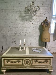 Painted Cottage Chic Shabby French Coffee Table