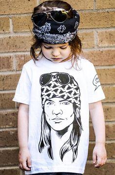 a161eb213 Guns N Roses Sweet Child T Shirt by Hatch For Kids - GNR Axl Rose Band Tee  Shirt Clothing 80s Hard Rock N Roll T-Shirt Rad - Size 2T 4T 6 8