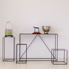 Set of 2 ROMY Lacquered Metal Side Tables AM.PM.