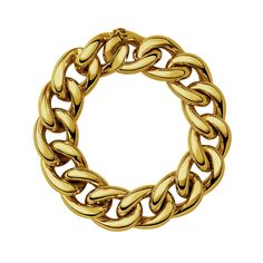 Curved chain bracelet in silver/ yellow gold