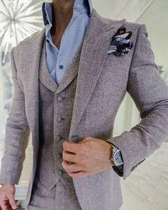 S by Sebastian Moca Ecru Woven Tweed Jacket Mens Hottest Fashion, Suit Fashion, Mens Fashion, Moda Formal, Smart Casual Men, Mens Fall, Sports Jacket, Modern Outfits, Tweed Jacket