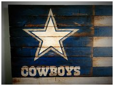 Dallas Cowboys Flag Dallas Cowboys Wood Flag by woodencrossshop